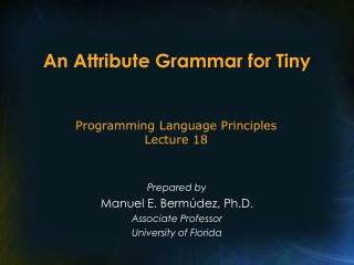 An Attribute Grammar for Tiny
