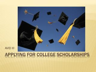 Applying for College scholarships