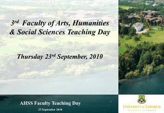 AHSS Faculty Teaching Day 23 September 2010