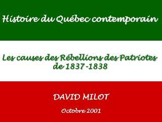 Histoire du Québec contemporain