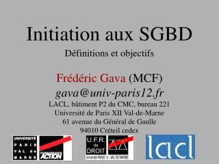 Initiation aux SGBD