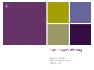 Lab Report Writing