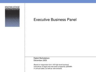 Executive Business Panel Digital Marketplace