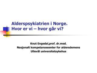 Alderspsykiatrien i Norge.  Hvor er vi – hvor går vi?