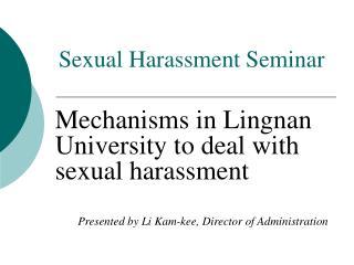 Sexual Harassment Seminar