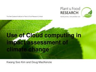 Use of Cloud computing in  impact assessment of climate change