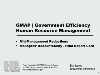 GMAP  Government Efficiency Human Resource Management
