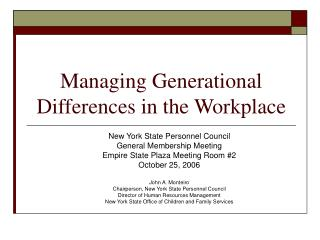 Managing Generational Differences in the Workplace