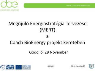 Megújuló Energiastratégia Tervezése  ( MERT ) a Coach BioEnergy  projekt keretében