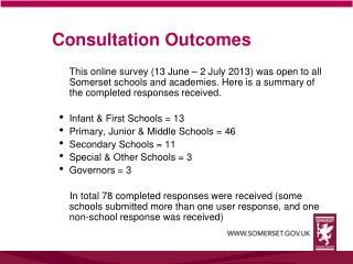 Consultation Outcomes
