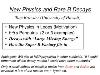 New Physics and Rare B Decays