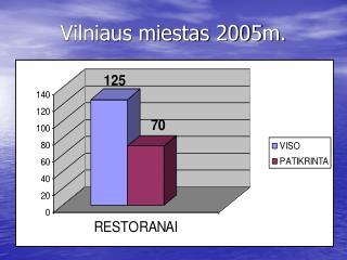 Vilniaus miestas 2005m.