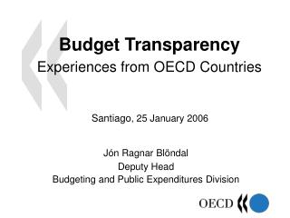 Budget Transparency Experience s  from OECD Countries