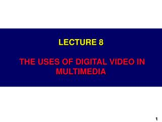 Lecture 3: Video