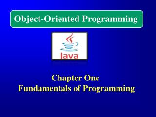 Chapter One  Fundamentals of Programming
