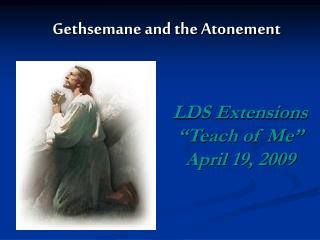 Gethsemane and the Atonement
