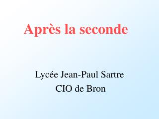 Apr�s la seconde