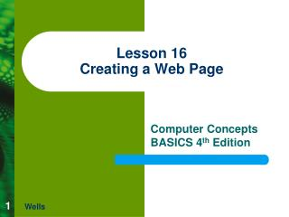 Lesson 16 Creating a Web Page
