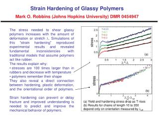Strain Hardening of Glassy Polymers Mark O. Robbins (Johns Hopkins University) DMR 0454947
