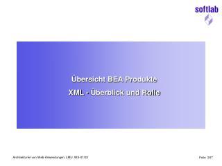 Übersicht BEA Produkte XML - Überblick und Rolle