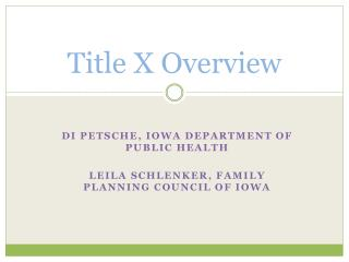 Title X Overview