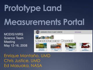 Prototype Land Measurements Portal