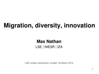 Migration, diversity, innovation