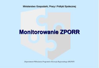 Monitorowanie ZPORR