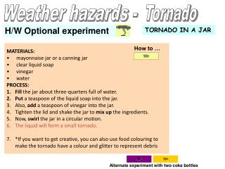 Weather hazards -