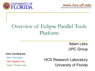 Overview of Eclipse Parallel Tools Platform