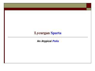 Lycurgan Sparta