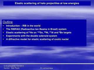 Elastic scattering of halo projectiles at low energies