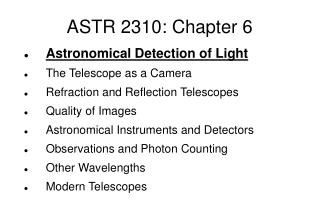 ASTR 2310: Chapter 6