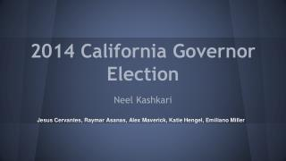 2014 California Governor Election