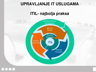 UPRAVLJANJE IT USLUGAMA ITIL- najbolja praksa