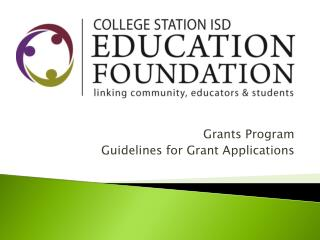 Grants Program Guidelines for Grant Applications