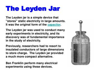 The Leyden Jar