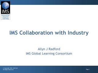 IMS Collaboration with Industry