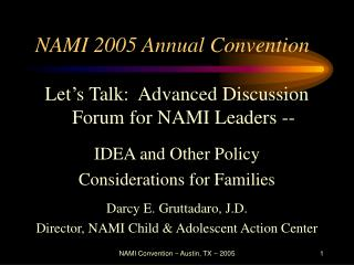 NAMI 2005 Annual Convention