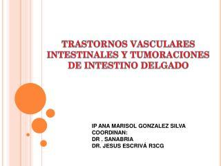 TRASTORNOS VASCULARES INTESTINALES Y TUMORACIONES DE INTESTINO DELGADO