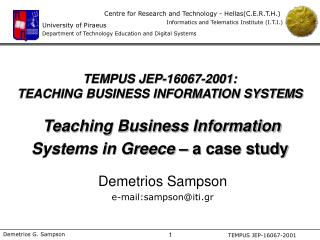 Demetrios Sampson e-mail:sampson@iti.gr
