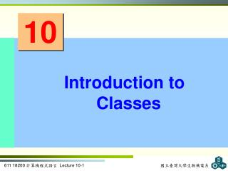 Introduction to Classes