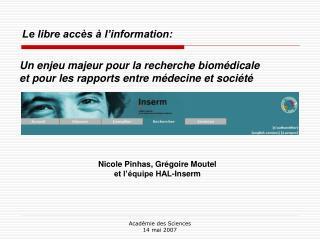 Le libre accès à l'information:
