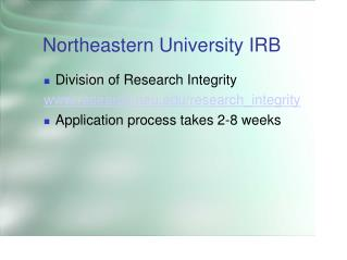 Northeastern University IRB