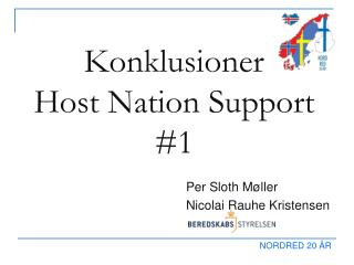 Konklusioner Host Nation Support #1