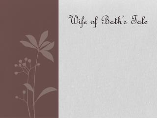 Wife of Bath's Tale