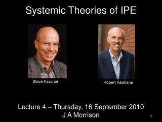 Systemic Theories of IPE