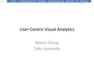 User-Centric Visual Analytics