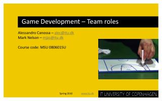 Game Development   Team roles