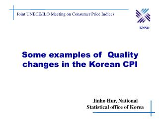 Some examples of  Quality changes in the Korean CPI